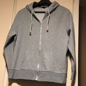 GAP Light Gray Sweat jacket with hood Size XXL